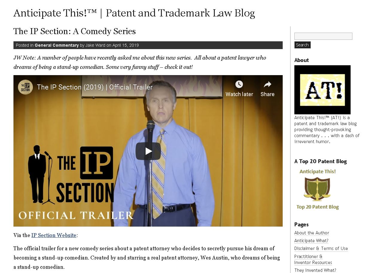 "Anticipate This! Law Blog – ""Very Funny Stuff – Check It Out!"""