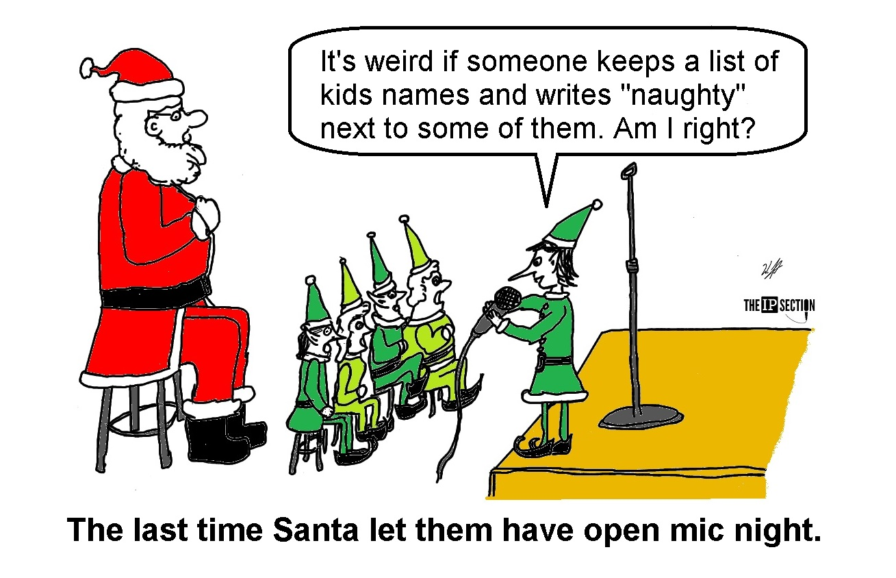 What Happens When Santa Has an Open Mic Night for Elf Comedians?